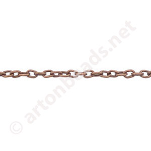 Chain(0.6+A) - Antique Copper Plated - 2.1x2.9mm - 2m
