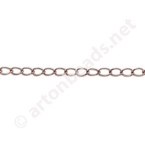 Chain(J0.6) - Antique Copper Plated - 2.2x3.0mm - 2m