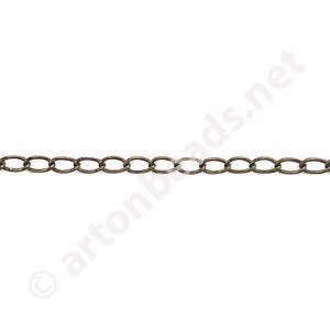 Chain(J0.6+) - Antique brass Plated - 2.2x3.0mm - 2m