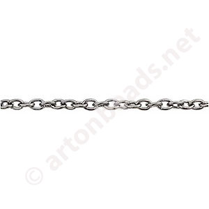 Chain(0.6+A) - Gun metal Plated - 2.1x2.9mm - 2m