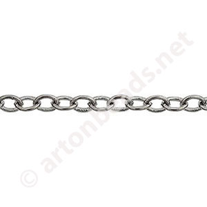 Chain(280BSA) - Gun Metal Plated - 3.7x4.7mm - 1m