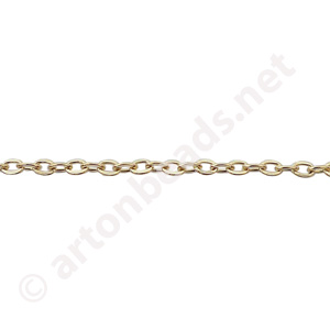 Link Chain(#250F) -18K Gold Plated - 1.99x2.90mm - 25F