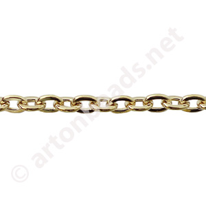 Link Chain(#210F) -18K Gold Plated - 4.00x5.33mm - 1m