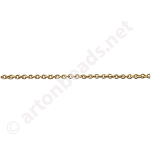 *Link Chain(#1055) -18K Gold Plated - 1.17x1.45mm - 2m