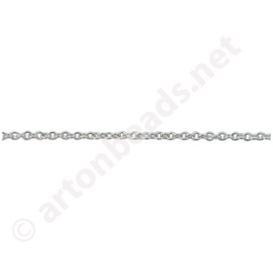 *Link Chain(#1057) - 925 Silver Plated - 1.15x1.45mm - 25m