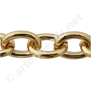 Heavy Link Chain -18K Gold Plated - 12.50x16.50mm - 1m