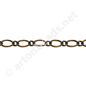 Chain(#8FG) - Antique Brass Plated - 3.35x6.00mm - 3m