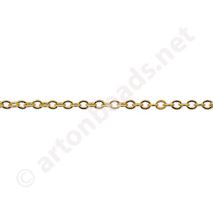 *Link Chain(#235) -18K Gold Plated - 1.60x2.00mm - 10m