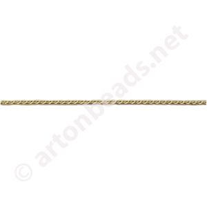 Rope Chain(#135) -18K Gold Plated - 0.80mm - 8m