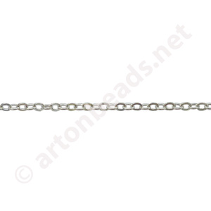 Link Chain(#235) - 925 Silver Plated - 1.60x2.12mm - 10m