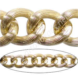 Aluminum Chain(#3) - 18k Gold Plated - 17.6x21.3mm - 1M