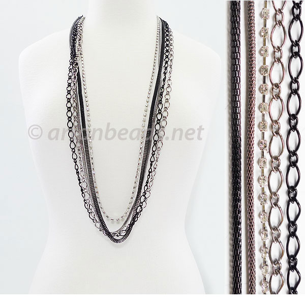 Pre-made Multi-strand Chain - 5-strand - 3.2-6.2mm - 1 Y