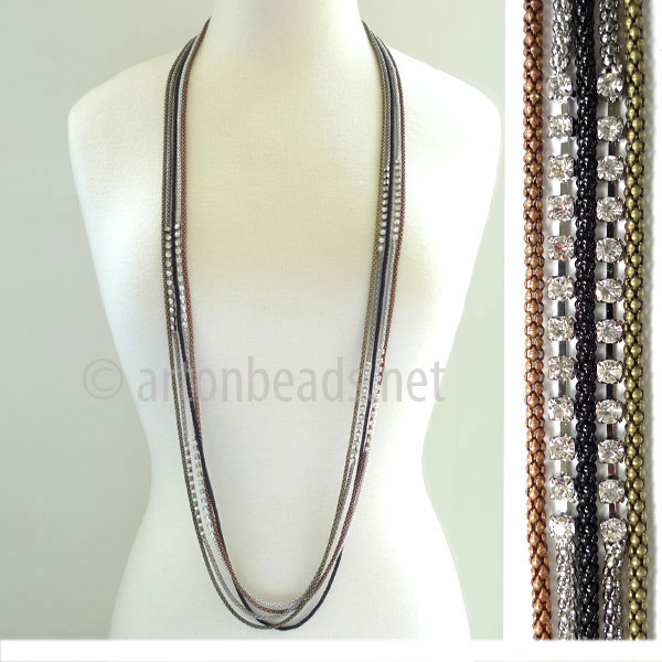 Pre-made Multi-strand Chain - 5-strand - 2.2mm - 1 M