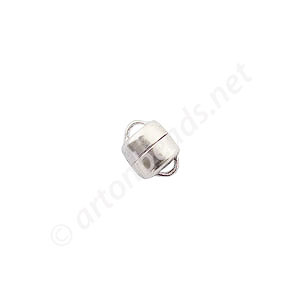 Sterling Silver Magnetic Clasp - Round - 8mm - 1 Set