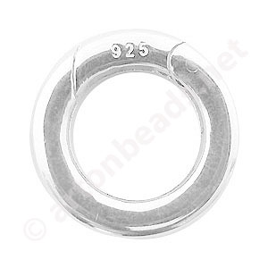 Sterling Silver Spring Clasp ( Shortener ) - Round - 20mm - 1pc
