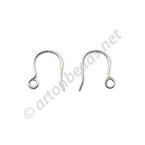 *Sterling Silver Earring Hook - 10mm - 20pcs