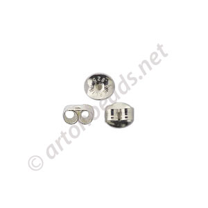Sterling Silver Earring Back - 4x5mm - 12pcs