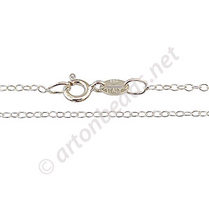 "*Sterling Silver Pre-made Chain - Link - 16"" - 1 Strand"