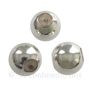 Sterling Silver Smart Beads/Stopper Beads - 8mm - 1pc