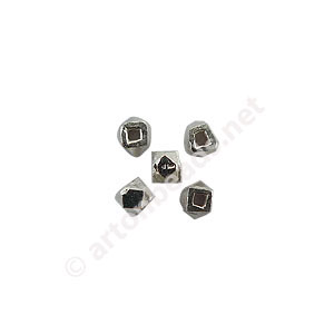 Sterling Silver Spacer Beads - Irregular - 1.5mm - 35pcs