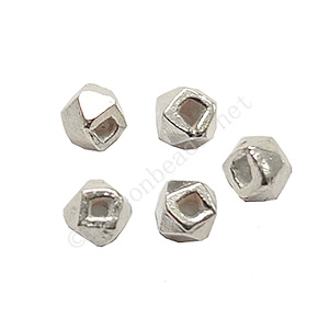 Sterling Silver Spacer Beads - Irregular - 2mm - 10pcs