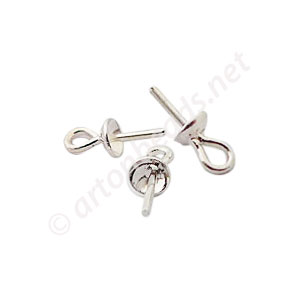 Sterling Silver Bail - Glue On - 3mm - 6pcs
