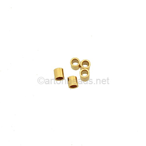 14K Gold Filled Crimp - 2x2mm -20pcs