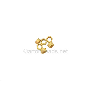 14K Gold Filled Crimp - 2x1mm -20pcs