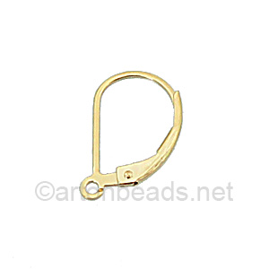 14K Gold Filled Earring Hook - Leverback - 15.8mm - 2pcs