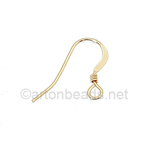 14K Gold Filled Earring Hook - Coil - 14.2 mm - 4pcs