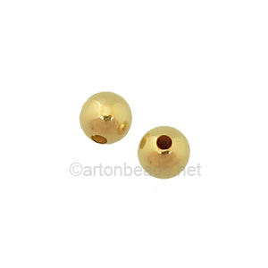 14K Gold Filled Beads - 5mm - 6pcs