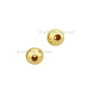 Brass Base Beads - 18k Gold Plated - 3mm - 1000pcs
