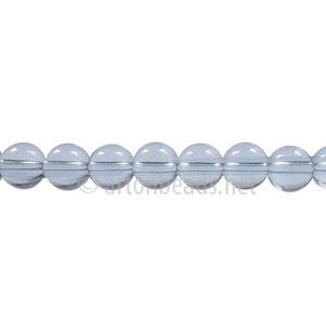 Glass Beads - Round - Light Sapphire - 6mm - 1 Strand