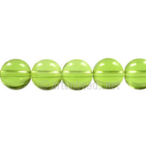 Glass Beads - Round - Olivine - 8mm - 1 Strand