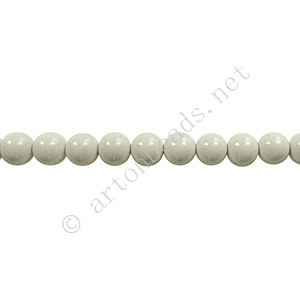 Baking Painted Glass Bead - Round - Light Grey - 4mm - 100pcs