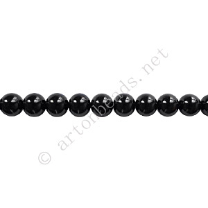 Baking Painted Glass Bead - Round - Black - 4mm - 100pcs