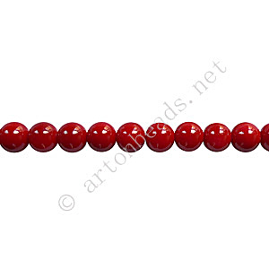 Baking Painted Glass Bead - Round - Dark Red - 4mm - 100pcs