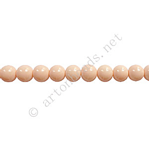 Baking Painted Glass Bead - Round - Light Peach - 4mm - 100pcs