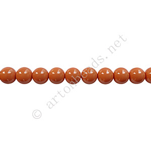 Baking Painted Glass Bead - Round - Copper Brown - 4mm - 100pcs