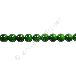 Baking Painted Glass Bead - Round - Forest Green - 4mm - 100pc