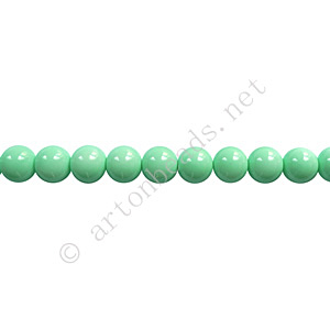 *Baking Painted Glass Bead - Round - Mint - 4mm - 100pcs - Click Image to Close