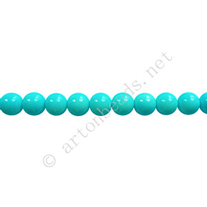 Baking Painted Glass Bead - Round - Baby Blue - 4mm - 100pcs
