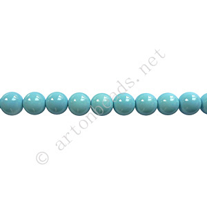 Baking Painted Glass Bead - Round - Sky Blue - 4mm - 100pcs