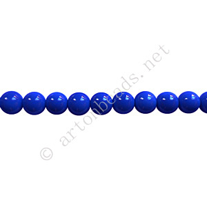Baking Painted Glass Bead - Round - Sapphire - 4mm - 100pcs