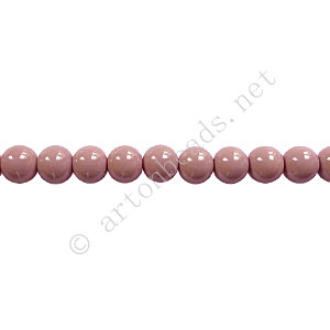 Baking Painted Glass Bead - Round - Pinkish Purple - 4mm-100pcs