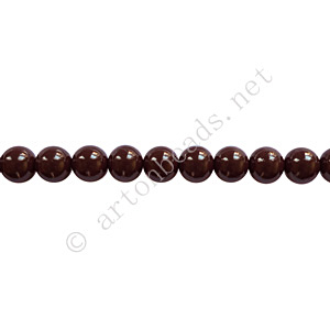 Baking Painted Glass Bead - Round - Chocolate - 4mm - 100pcs