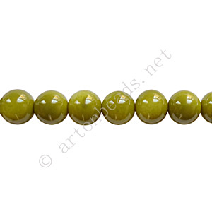 *Baking Painted Glass Bead - Round - Olivine - 6mm - 65pcs