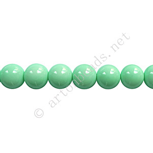 *Baking Painted Glass Bead - Round - Mint - 6mm - 65pcs