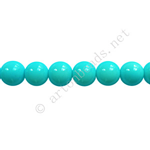 Baking Painted Glass Bead - Round - Baby Blue - 6mm - 65pcs