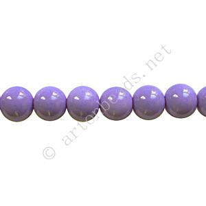 Baking Painted Glass Bead - Round - Lavender - 6mm - 65pcs